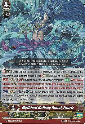 Cardfight Vanguard Card: Mythical Hellsky Beast, Fenrir - G-Bt08/001En Gr