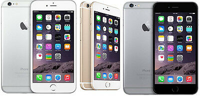 """Apple iPhone 6  16GB 64GB GSM """"Factory Unlocked"""" Smartphone Gold Gray Silver"""