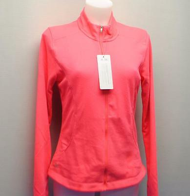 New Ladies Small Adidas 3 Stripe polyester Zip Layering golf top