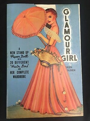 1985 Glamour Girl by Queen Holden Reproduction Paper Dolls 20 Hair Dos Part Cut