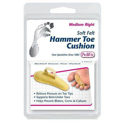 New PediFix Hammer Toe Cushion Felt Supports Bent-under Toes Reliever Pressure