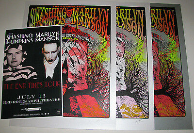SMASHING PUMPKINS MARILYN MANSON 2015 Red Rocks Ultimate Poster Collection (4)