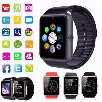 "1.54"" GT08 Touch Screen Bluetooth Smart Watch Phone For Android IOS - 3 Colours"