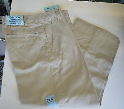 FRENCH TOAST BOY Uniform Pants Slacks Khaki NAVY Blue SZ 6 - 18 Husky KNEE Girl
