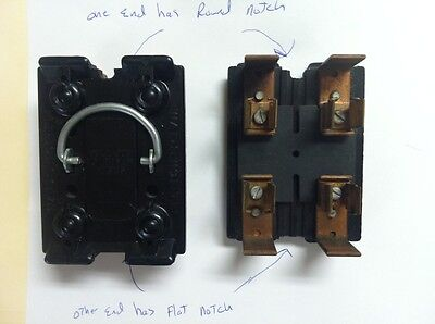 wadsworth amp fuse holder pull out bull picclick wadsworth 30 amp fuse panel pull out 1 flat 1 round notch