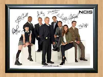NCIS N.C.I.S. Cast Signed Autographed A4 Print Photo Poster Los Angeles Orleans