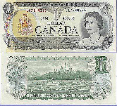 Canada 1 Dollar Banknote 1973 Uncirculated Condition Cat#85-A