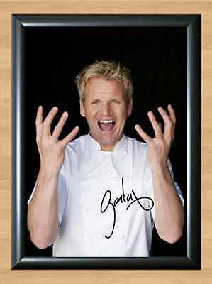 Gordon Ramsay Hells Kitchen Nightmares Signed Autographed A4 Print Photo Poster