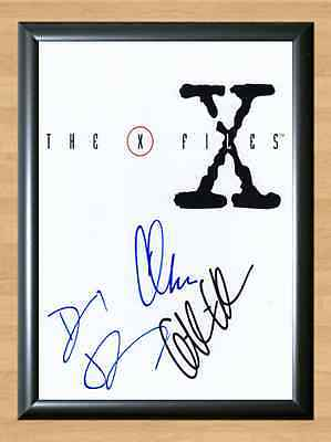 X-Files Chris Carter David Duchovny Gillian Signed Autographed A4 Print Photo 1