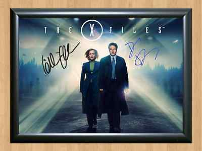 X-Files David Duchovny Gillian Anderson Signed Autographed A4 Print Photo Poster