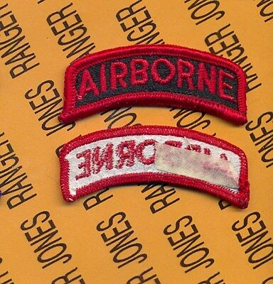 US ARMY AIRBORNE TAB RED & BLACK patch m/e