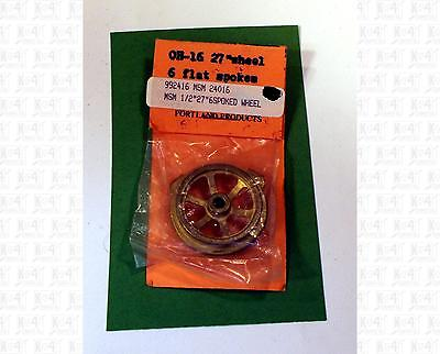 Portland Products G 1:24 Brass Parts: 27 Inch 6 Spoked Flanged Wheel 24016