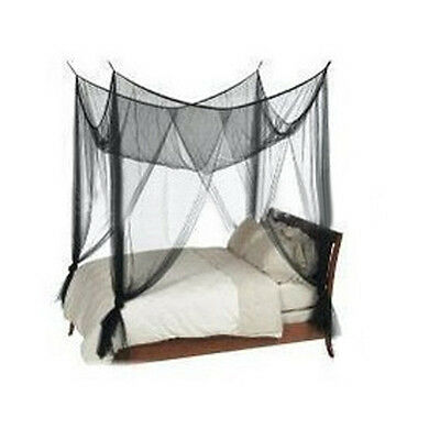 1Set Square Mosquito Net Fly Insect Protection Four Poster Bed King Size Canopy