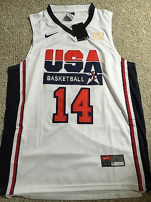 Charles Barkley USA Dream Team White Jersey 1992 Medium Med Stitched NWT! Suns