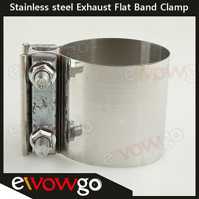 """2.25"""" Stainless Steel Exhaust Flat Band Clamp  /Clamps"""