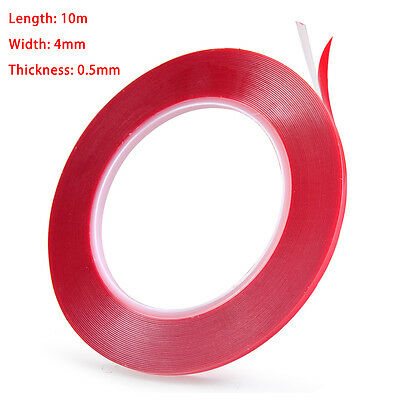 10M Acrylic Foam Adhesive Gel Tape Film Double-sided Clear Transparent LCD Phone