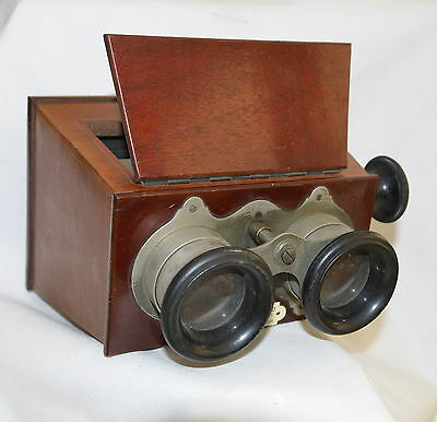 ANTIQUE c1910 VERASCOPE RICHARD STEREOSCOPE STEREO VIEWER FOR GLASS SLIDES