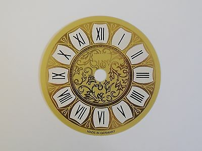 Printed Clock Dial 97Mm Dia With Black Roman Numerals 467