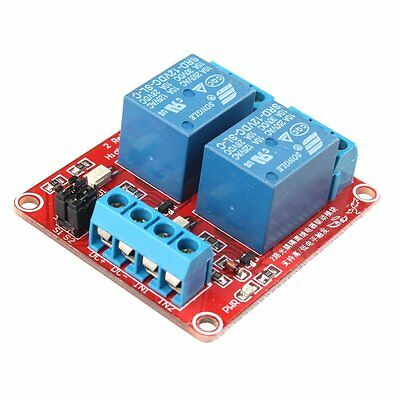1PCS DC 12V 2-Channel Relay Module with Optocoupler H/L Level Triger for Arduino