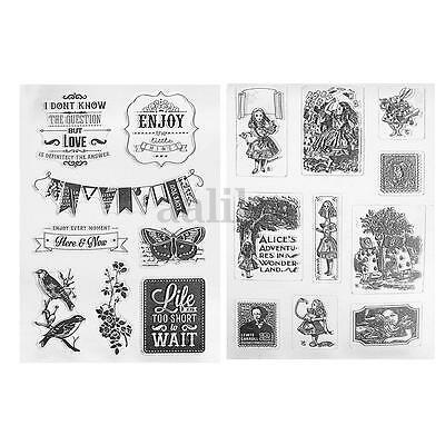 Transparent Silicone Rubber Clear Stamp Cling Seal Scrapbooking DIY Craft Gift