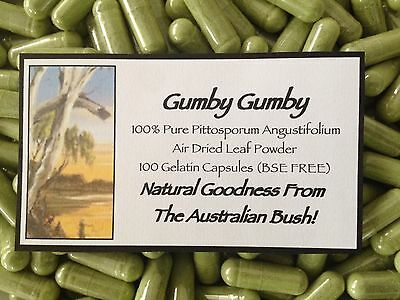 Gumby Gumby (Gumbi Gumbi) 100 Capsules 100% Air Dried Pittosporum Angustifolium