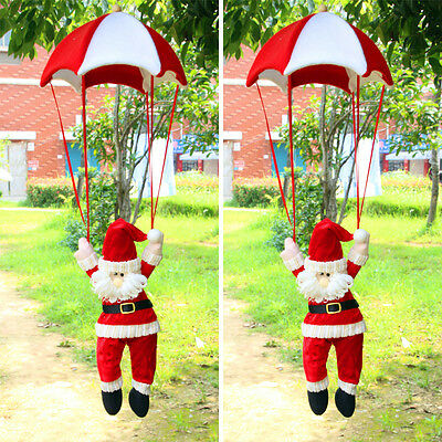 Santa Claus Coming with Parachute ♫ Christmas ♫ Gift Decor Hanging Doll Ornament
