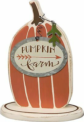 PUMPKIN FARMS Primitives by Kathy Thanksgiving Sitter Sign