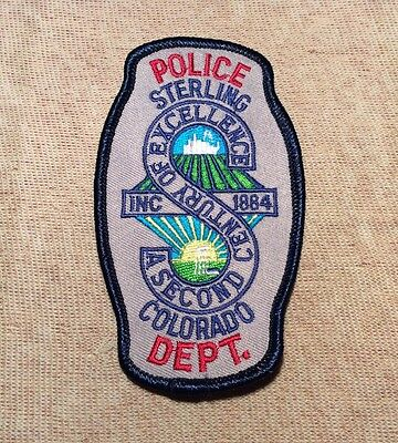 CO Sterling Colorado Police Patch