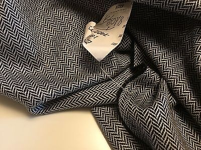 "New High Class Multi Colour Wool Herringbone Suiting Fabric 60"" 154cm"