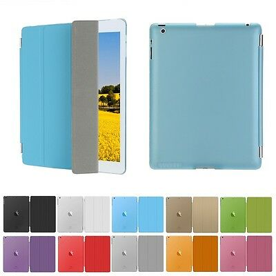 Ultra Slim Smart Magnetic Leather Cover Case for iPad  2 3 4 Mini Air 2 Pro Lot