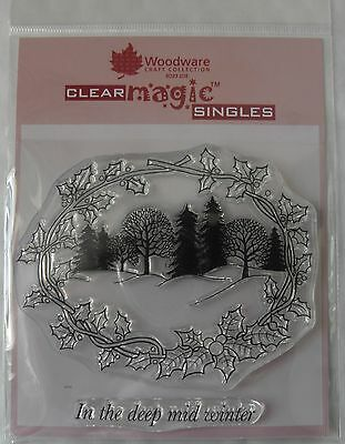 Woodware Clear Magic Stamp - Winter Wonderland - JGS180