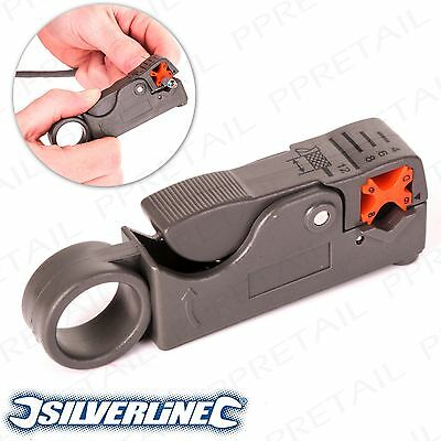 Coaxial Cable Stripper Satellite Sky TV Aerial Plug Antenna Lead Wire Connector