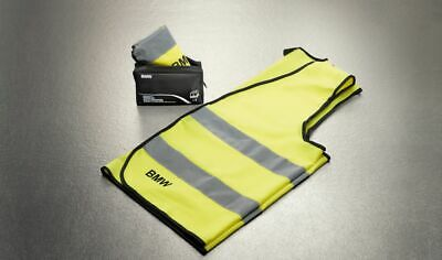 BMW Genuine Reflective Safety High Visibility Vest Yellow 2 Pc Set 82262288693