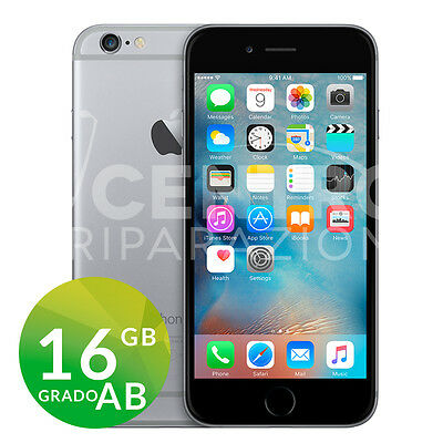 Apple Iphone 6 16Gb Nero Space Gray Originale Grado Ab Rigenerato Ricondizionato