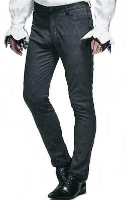 Elegant Men's Trousers for Tailcoat Jaguard black Gothic Fancy dresses