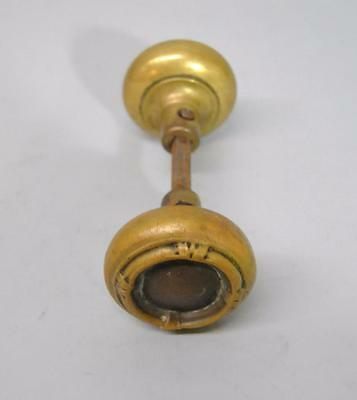 Antique Brass Door Handle / Knob Swirl Detail