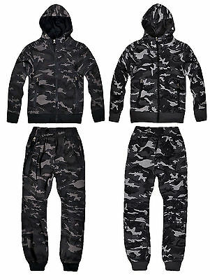 Boys Camouflage Tracksuit New Kids Hoodie Jogging Bottom Camo Set Age 4-14 Years