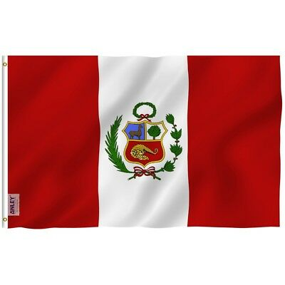 ANLEY Peru Flag Peruvian National Banner Polyester 3x5 Foot Country Flags