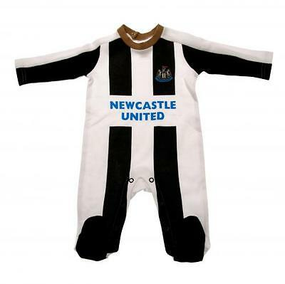 Official Licensed Football Product Newcastle United Sleepsuit 0 / 3 Months New