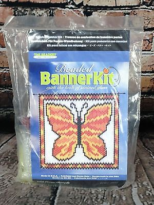 """The Beadery Beaded Banner Kit Butterfly (9 1/2"""" x 9 1/2"""") #5226"""