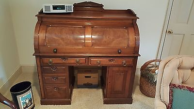 Circa 1880 John Souther Cylinder Roll Top Desk