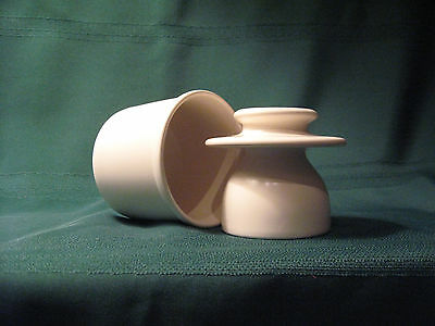 French Butter/Beurre  Bell Crock Lidded White BY L.TREMAIN NEW