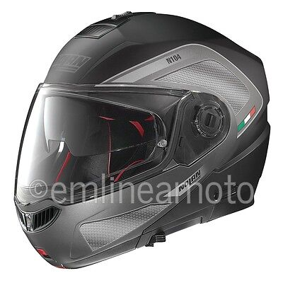 Helmet Flip-Up Full-Face Nolan N104 Absolute Tech 27 Flat Black