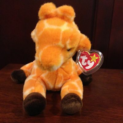 RETIRED TY 1st EDITION BEANIE BUDDY TWIGS THE GIRAFFE  MWMT VERY HARD TO FIND