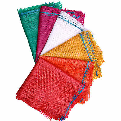100 Net Woven Sacks Mesh Bags Vegetables Logs Kindling Wood Onions Carrot Potato