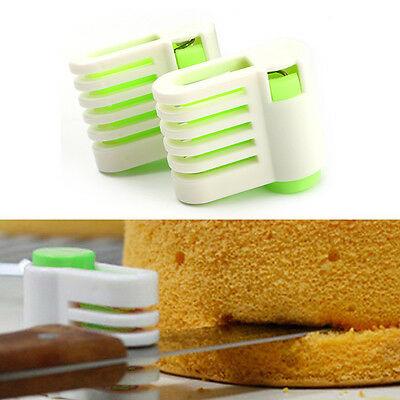 Kitchen Pastry Tools 1 Pair DIY 5 Layers Cake Bread Cutter Leveler Slicer Racks