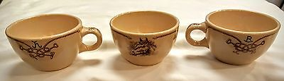 3 CUPS Shenango Round Up Pattern  WESTERN Theme HARD TO FIND