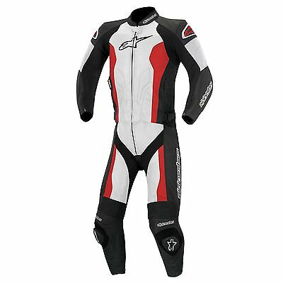 Alpinestars Challenger 2 Piece Motorcycle Leathers Black/White/Red UK 46/Euro 56