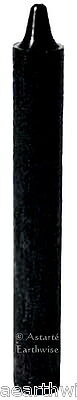 """1 x BLACK CANDLE  TAPER RITUAL 6"""" / 15.2cms Wicca Goth Pagan Witch SPELL CANDLE"""