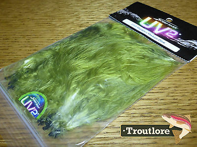 Spirit River Uv2 Med Olive Marabou Blood Quills Strung - New Fly Tying Feathers